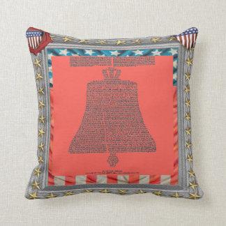 declaration of independance liberty bell cushion pillows