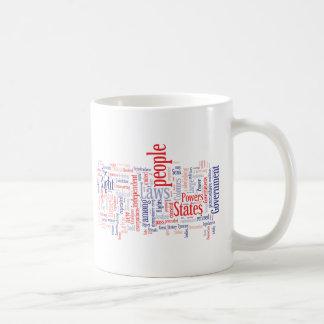 Declaration of Independance Word Cloud Coffee Mug