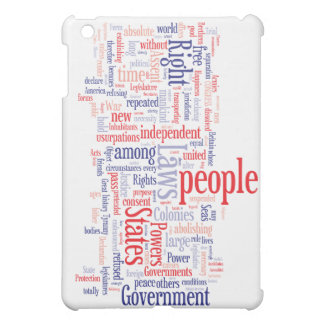 Declaration of Independance Word Cloud iPad Mini Covers