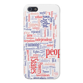 Declaration of Independance Word Cloud Covers For iPhone 5