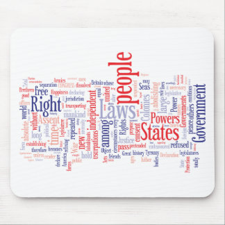 Declaration of Independance Word Cloud Mouse Pad