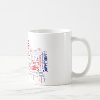 Declaration of Independance Word Cloud Classic White Coffee Mug