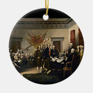 Declaration of Independence 1776 Ceramic Ornament