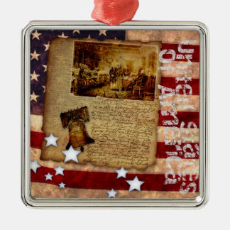 Declaration of Independence 1776 Metal Ornament