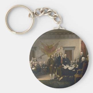 Declaration of Independence - 1819 Basic Round Button Keychain