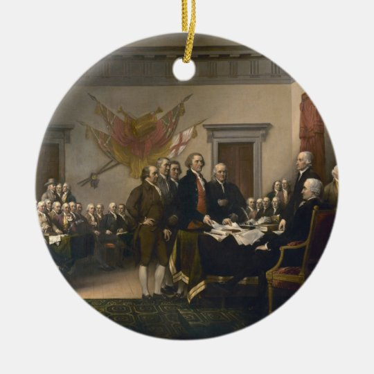 Declaration of Independence - 1819 Ceramic Ornament