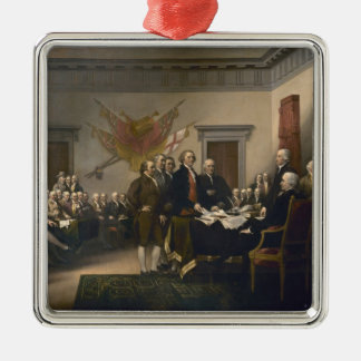 Declaration of Independence - 1819 Square Metal Christmas Ornament
