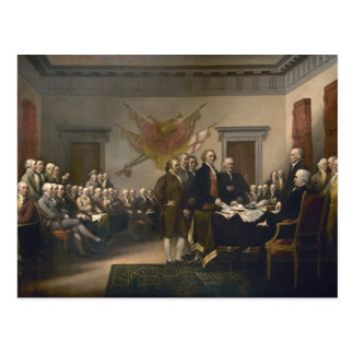 Declaration of Independence - 1819 Post Card