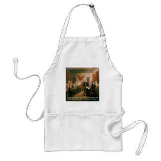 Declaration Of Independence & Ben Franklin Quote Adult Apron