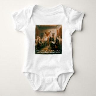 Declaration Of Independence & Ben Franklin Quote Baby Bodysuit