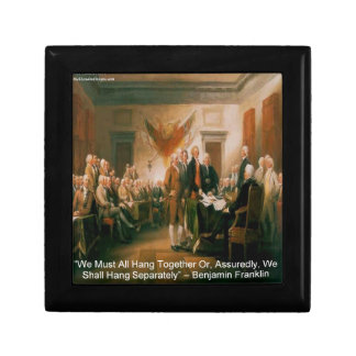 Declaration Of Independence & Ben Franklin Quote Jewelry Box
