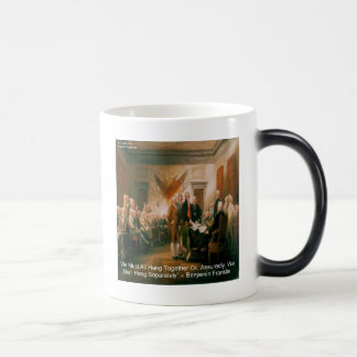 Declaration Of Independence & Ben Franklin Quote Coffee Mugs