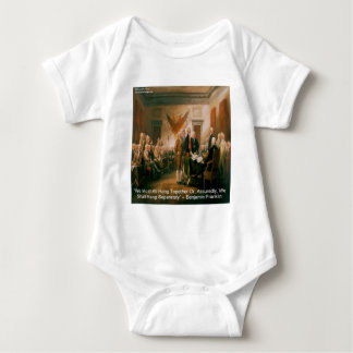Declaration Of Independence & Ben Franklin Quote Infant Creeper