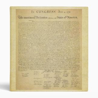 Declaration of Independence Binder