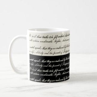 Declaration of Independence Black and White Mug