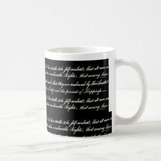 Declaration of Independence Black Mug