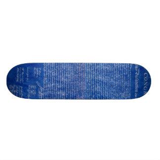 Declaration of Independence blue Skateboard