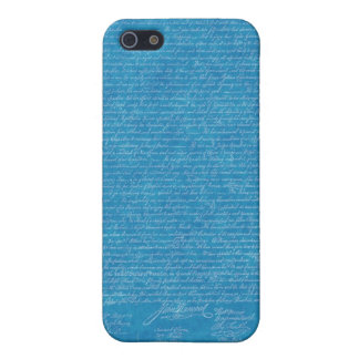 Declaration of Independence Blueprint Iphone Cover iPhone 5 Cases