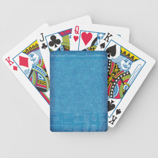 Declaration of Independence Blueprint Playing Card