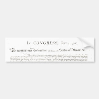 Declaration of Independence Bumper Sticker