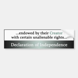 Declaration of Independence Bumper Sticker