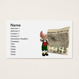Declaration Of Independence Business Card