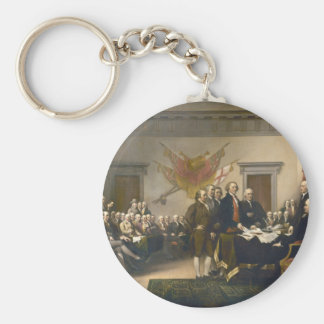 Declaration of Independence by John Trumbull 1819 Basic Round Button Keychain