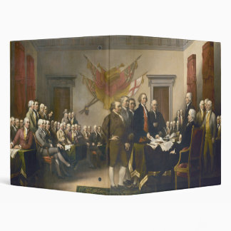 Declaration of Independence by John Trumbull 1819 3 Ring Binder