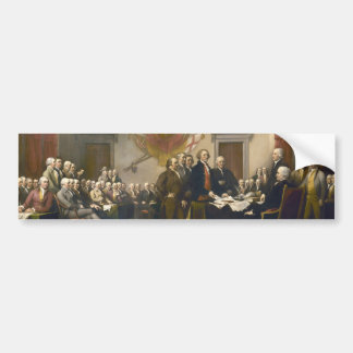 Declaration of Independence by John Trumbull 1819 Bumper Sticker