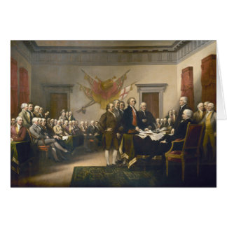 Declaration of Independence by John Trumbull 1819 Card