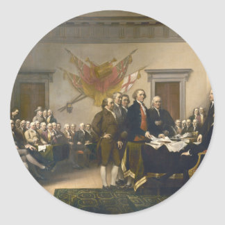 Declaration of Independence by John Trumbull 1819 Classic Round Sticker