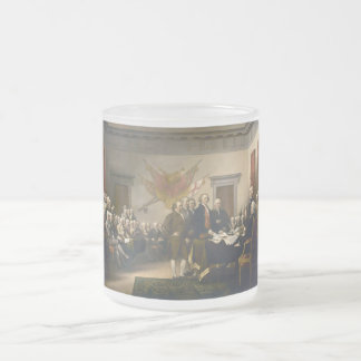Declaration of Independence by John Trumbull 1819 Frosted Glass Coffee Mug