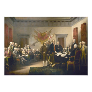 Declaration of Independence by John Trumbull 1819 Invites