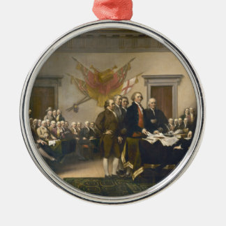 Declaration of Independence by John Trumbull 1819 Round Metal Christmas Ornament