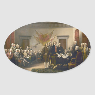Declaration of Independence by John Trumbull 1819 Oval Sticker