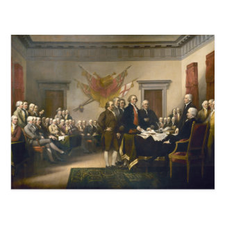 Declaration of Independence by John Trumbull 1819 Postcard
