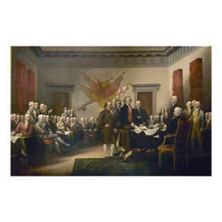 Declaration of Independence by John Trumbull 1819 Poster