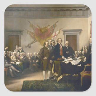 Declaration of Independence by John Trumbull 1819 Square Sticker
