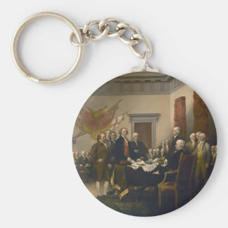 Declaration of Independence by John Trumbull Basic Round Button Keychain