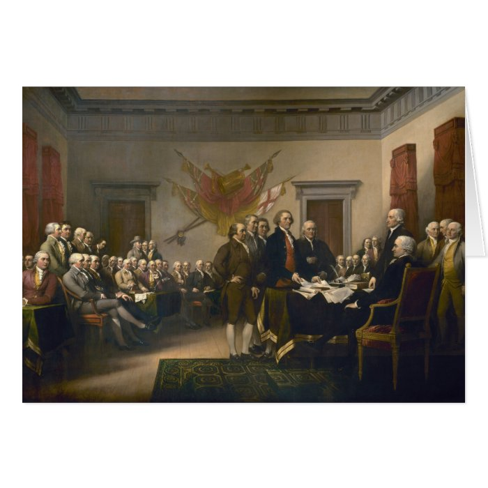 Declaration of Independence by John Trumbull Card
