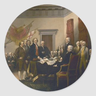 Declaration of Independence by John Trumbull Classic Round Sticker