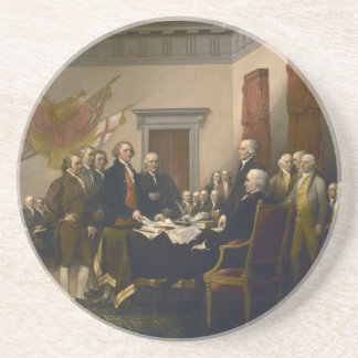 Declaration of Independence by John Trumbull Sandstone Coaster