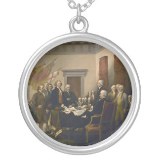 Declaration of Independence by John Trumbull Silver Plated Necklace