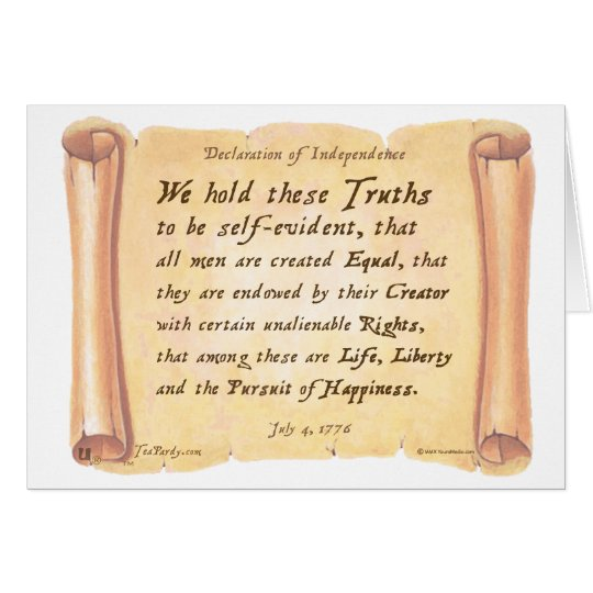 Declaration of Independence Card