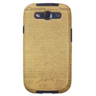 Declaration of Independence Galaxy SIII Cases