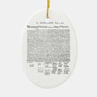 Declaration of Independence Ceramic Ornament