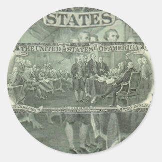 Declaration of Independence Classic Round Sticker