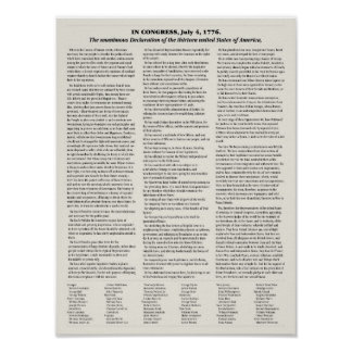 Declaration of Independence. classroom poster