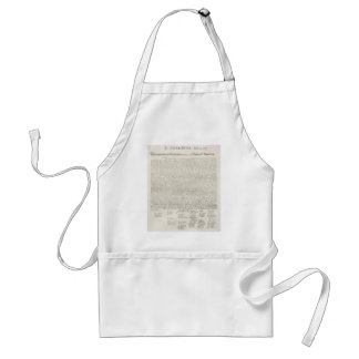 Declaration of Independence Document Aprons