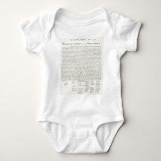 Declaration of Independence Document Baby Bodysuit
